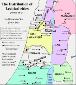 Map Levitical Cities refuge